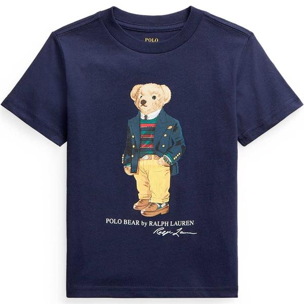 Polo Ralph Lauren Boy Short Sleeved Tee Bear Classics Navy