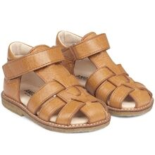 Angulus Sandal w. Closed Toe and Velcro Cognac 5019-201-2621