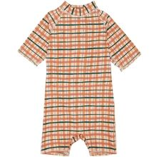 Soft Gallery Winter Wheat AOP Check Rey UV SunSuit