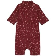 Soft Gallery Oxblood Red Flowery Rey UV Sunsuit