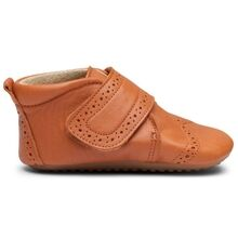 Pom Pom Indoor Shoe Velcro Broque Camel