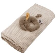 Sebra Gift Set Baby Blanket And Rattle Beige
