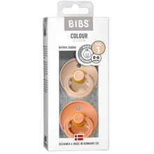 Bibs Colour Latex Pacifiers 2-pak Round Vanilla/Peach