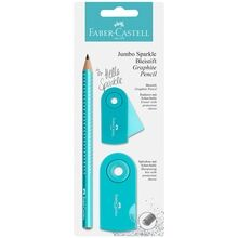 Faber Castell Jumbo Sparkle Pencil Turquiose/Glitter