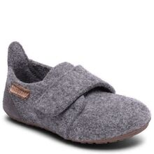 Bisgaard Indoor Shoes Wool Velcro Grey