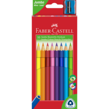 Faber Castell Jumbo 10 Thick Colour Pencils