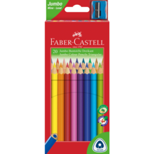 Faber Castell Jumbo 20 Thick Colour Pencils