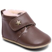 Bisgaard Indoor Shoes Velcro Star Brown Wool