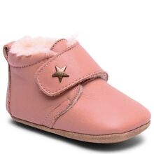 Bisgaard Indoor Shoes Velcro Star Nude Wool