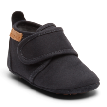 Bisgaard Indoor Shoes Cotton Velcro Navy
