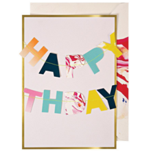 Meri Meri Happy Birthday Garland Greeting Card