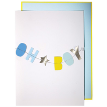 Meri Meri Oh Boy Garland Greeting Card