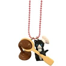 Pop Cutie Kats Kitchen Necklace Black