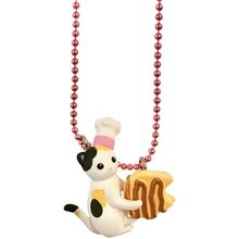 Pop Cutie Kats Kitchen Necklace White w. Cookie
