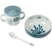 Done by Deer First Meal Set Sea Friends Blue