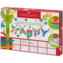 Faber Castell Pens Connector 60+10 Post Cards Gift Box