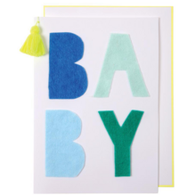 Meri Meri Blue Baby Greeting Card