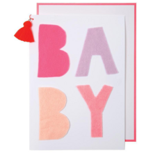 Meri Meri Pink Baby Greeting Card