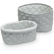 Cam Cam Quilted Storage Basket 2 Pack Grey