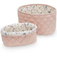 Cam Cam Quilted Storage Basket 2 Pack Blossom Pink