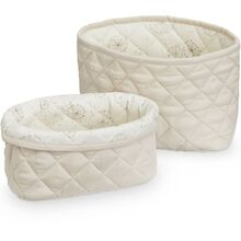 Cam Cam Quilted Storage Basket 2 Pack Light Sand