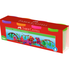 Faber Castell Modelling Clays 4 Neon Colours
