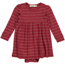MarMar Modal Plain Stripes Lurex Red Gold Body W. Dress Ramona