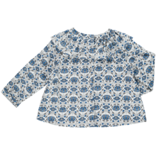 Pierrot la Lune Martha Tunika Blue/ Grey Flower Print
