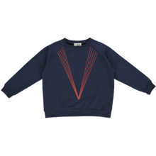 GRO Classic Navy Sweat 5 Lines Embroidery