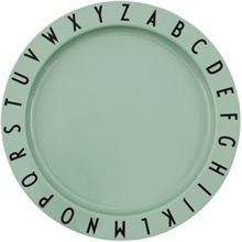 Design Letters Green Tritan ABC Plate