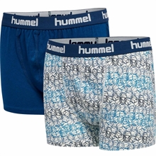 Hummel Estate Blue Nolan 2-pack Boxers