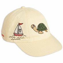 Mini Rodini Turtle Soft Beige Cap