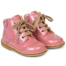 Angulus Beginner Shoes w. Lace Rosa Pink 2378-101-2389