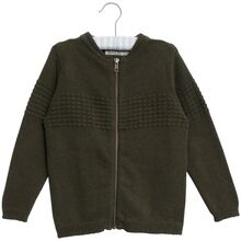Wheat Army Melange Knit Cardigan Sailor