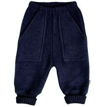 Joha Wool Blue Baggy Pants