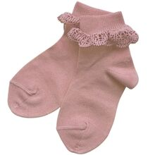 Cóndor Socks w. Lace Pale Pink