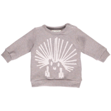 GRO Rosa Aspects Melange Rosa Grey Sweatshirt