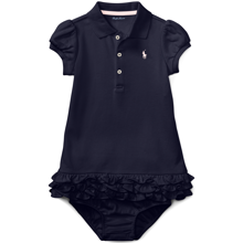 Ralph Lauren Baby Girl Dress Cupcake Navy