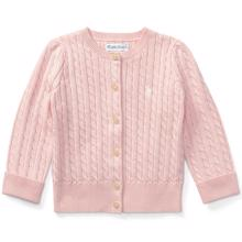 Ralph Lauren Baby Girl Mini Cable Cardigan Pink