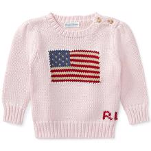 Ralph Lauren Baby Girl American Sweater French Pink