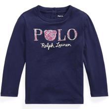 Ralph Lauren Baby Girl Polo Long Sleeved French Navy