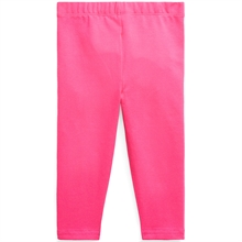 Ralph Lauren Baby Girl Leggings Stretch Jersey Accent Pink/Colby Blue