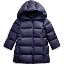 Polo Ralph Lauren Girl Long Down Outerwear Jacket French Navy