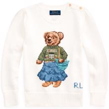 Polo Ralph Lauren Girl Knit Sweater Bear Trophy Cream