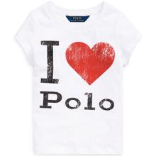 Polo Ralph Lauren Girl Short Sleeved Tee Graphic White Heart