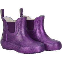 CeLaVi Wellies Basic Short Purple Glitter