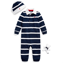 Ralph Lauren Baby Boy Rugby Jersey Gift Box Set French Navy Multi