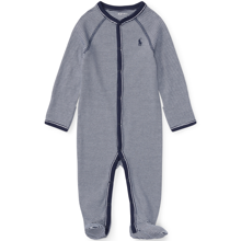 Ralph Lauren Baby Boy Coverall Suit Stripe French Navy