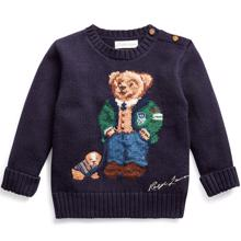 Ralph Lauren Baby Boy Bear Sweater Royal Navy