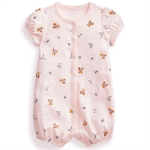 Ralph Lauren Baby Girl Shortall Polo Pink Multi
